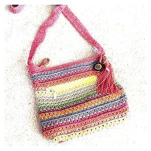 💕The Sak crochet medium Multicolored crossbody
